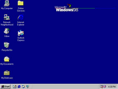 visual do Windows 98