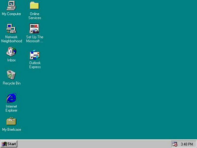 tela inicial do Windows 95